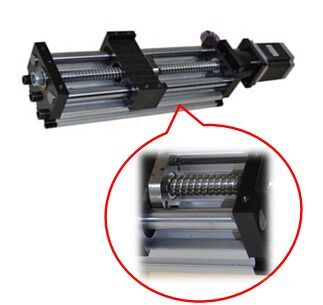 Linear Actuator THK90 - Ballscrew Slide Twin Round Shaft, 0.1meter