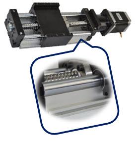 Linear Actuator DHK90 - Ballscrew Slide Twin Round Shaft, 1.1meter