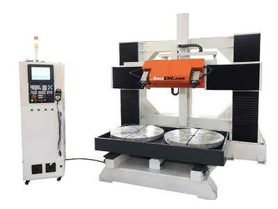 CNC Router 5 axis Milling Machine, 2 Tables Rotary, Precision Heavy Weight