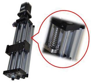 Linear Actuator THK90 - Ballscrew Slide Twin Round Shaft, 0.9meter