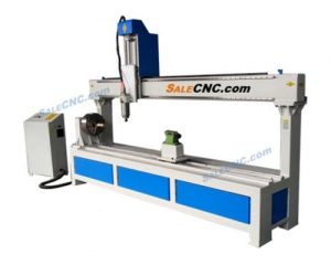 CNC Router Milling รุ่น XJ 1325-RX300, Rotary 300, Over Swiing 600mm