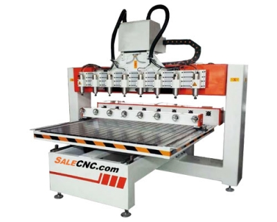 CNC Router 8 Heads With Rotary Axis 2013